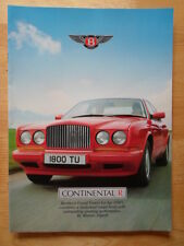 BENTLEY Continental R 1991 large publicity brochure from Queste magazine