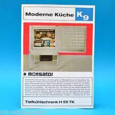 Tiefkühlschrank H 55 TK Monsator DDR 1970 | Prospekt Werbung DEWAG K9 C