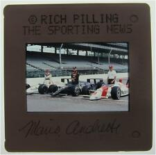 MARIO ANDRETTI A J FOYT RICK MEARS FRONT ROW INDY 500 1991 ORIGINAL SLIDE 25