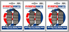 BMW C 600 Sport 12-15 Front & Rear Brake Pads Full Set (3 Pairs)