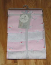 CARTERS COTTON FLANNEL BABY GIRL RECEIVING SWADDLING BLANKET PINK DOG BOW DOTS