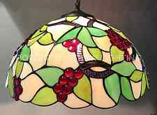 "40cm or 16"" Grape Design Pendant Shade With Antique Brass Finish Suspension GS05"