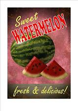 American Retro Style Diner Sign Cafe Sign Watermelon Retro Sign Kitchen Sign