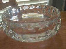 Mid Century ORREFORS Glass Crystal Pedestal Bowl GUNNAR CYREN Swedish