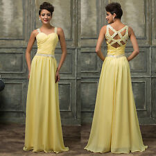 2016 Long Maxi Evening Ball Gown Cocktail Party Bridesmaid Wedding PROM Dresses