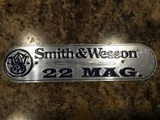 NICE! SMITH WESSON Rifle Pistol TIN Aluminum Gun SIGN Plaque Ammo Tag 22 Magnum
