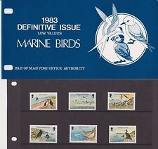 ISLE OF MAN Presentation Pack 1983 DEFINITIVE ISSUE BIRDS LOW VALUES 10% off 5+