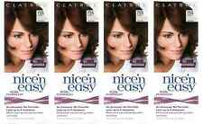 Clairol Nice N Easy Loving Care Hair Color, #755 Light Brown (4 Pack) + Tweezer