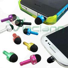 Pennino stylus brillantini+tappo anti polvere per iPad iPod touch nano 1 2 3