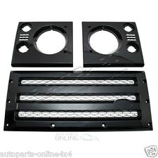 LAND ROVER DEFENDER - XS GRILLE & LAMP SURROUND - BLACK WITH SILVER MESH -DA1968