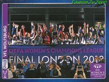 628 FINAL LONDON 2013  UEFA WOMEN'S STICKER CHAMPIONS LEAGUE 2014 PANINI