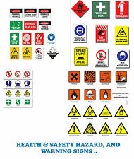 HEALTH AND SAFETY HAZARD & WARNING SIGNS + POSTERS COLLECTION OVER 7000