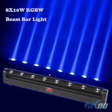 8X10W RGBW 4in1 LED Beam Moving Head Bar Wash Light DJ Disco Party American