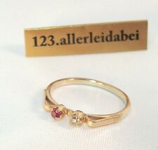 Russischer Spinell Ring 583 er Rotgold Gold  / AO 1114