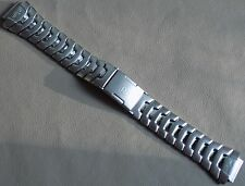 Mens Timex Stainless Steel Bracelet Reef Gear 16mm Push Button Clasp Watch Band