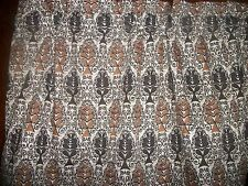 Brown Tan paisley bedroom kitchen bathroom fabric window topper curtain Valance