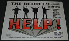 THE BEATLES HELP! 1980's 39x27 UK QUAD MOVIE POSTER! JOHN-PAUL-GEORGE-RINGO EPIC