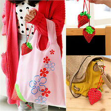 1XGirls Cute Strawberry Foldable Eco Bag Reusable Shopping Tote Shoulder PurseGA