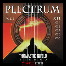 11 - 50 GAUGE THOMASTIK PLECTRUM AC111 BRONZE ACOUSTIC GUITAR STRINGS LIGHT NEW