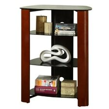 Walker Edison Innovative Regal Multi-Level Component Stand in Wood Cherry V35MWF
