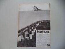 advertising Pubblicità 1975 FS FERROVIE DELLO STATO TRENI