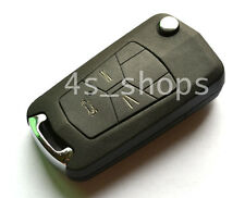No Chip Remodel Uncut Flip Folding Remote Key Shell Case Fit For Toyota 3 Button
