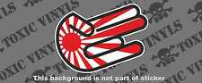 JDM rising sun shocker hand sticker decal JDM jap race drift car sticker decal