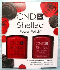 CND SHELLAC RUBY RITZ & WILDFIRE Perfect Pair Gel Polish Set NEW LIMITED EDITION