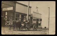 "CASS LAKE MN Minnesota c1910 RP Cow-Drawn Wagon ""New Automobile"""