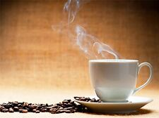 COFFEE CUP BEANS CAFE KITCHEN STEAM PHOTO ART PRINT POSTER PICTURE BMP270A