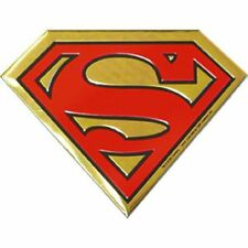 SUPERMAN LOGO - METAL STICKER 3.5 x 2.5 - BRAND NEW - CAR DECAL 0036