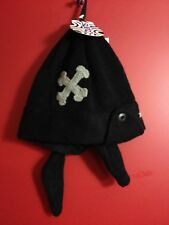 BARTS Kids Black Pirate Beanie Hat - Barts size 53 (ages 4 and up) - NWT
