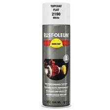 x2 Industriel Rust-Oleum Blanc Mate Peinture En Aérosol Solide Chapeau 500ml