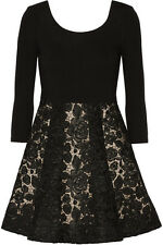 ALICE + OLIVIA 'AMIE' BLACK LACE CROCHET MINI DRESS CHRISTMAS PARTY, WEDDINGS NW