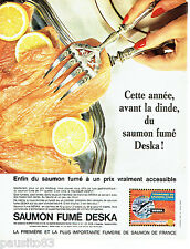 PUBLICITE ADVERTISING 036  1964  Saumon fumé Deska