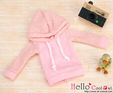 ☆╮Cool Cat╭☆83.【NP-B13】Blythe/Pullip Hoodie Top(Long Sleeves)# Dot Pink