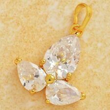 Fashion Jewelry 24K Gold Filled Flawless clear crystal Clover Pendant korea