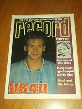 RECORD MIRROR DECEMBER 31 1983 UB40 ALI CAMPBELL KOOL AND THE GANG REGGAE CLASH