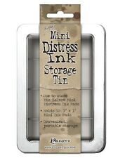 Tim Holtz Mini Distress ink pad storage tin Ranger NEW