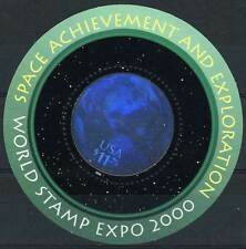 2000 WORLD STAMP EXPO, SPACE ACHIEVEMENT AND EXPLORATION SHEETLET 3412, $40