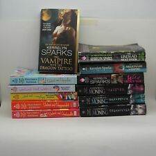 Paranormal Romance Fantasy Fiction Books Lot of 12 Davidson Sparks Moning Lot H
