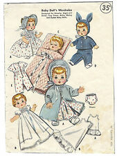"2183 Vintage Baby Doll Clothes Pattern - Size 8-9"" - Year 1957"