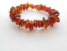 True Baltic Amber cognac bracelet Sold by manufacturer.  TA-105