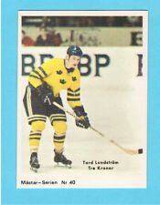 Tord Lundstrom Team Sweden Tre Kronor 1970 Swedish Hockey Card #40
