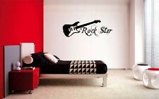 GUITAR ROCK STAR DECAL WALL VINYL DECOR STICKER BEDROOM MUSIC KIDS CHILDREN ART