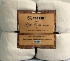 Ultra Soft Fluffy Plush Queen Size White Cozy Blanket Bedspread 3.4lbs Get Gift