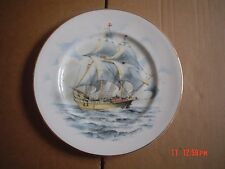 Fenton China Company Large Collectors Plate FAMOUS SHIPS THE GOLDEN HIND 1577