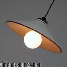 alte Porzellan Fabriklampe Decken Pendel Leuchte Hängelampe Art Dèco 30er Jahre