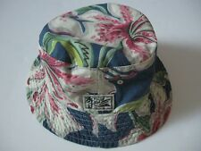 POLO RALPH LAUREN Floral Prints/Blue Chambray Reversible Bucket Hat S/M