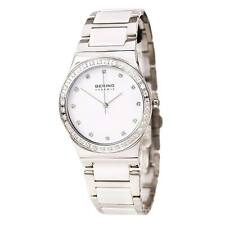 Bering Time Women's Ceramic Watch 32435-754 Swarovski Crystal